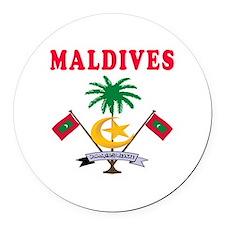 Maldives Coat Of Arms Designs Round Car Magnet