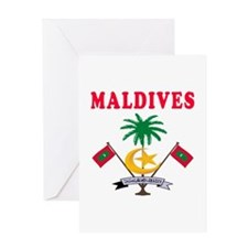 Maldives Coat Of Arms Designs Greeting Card
