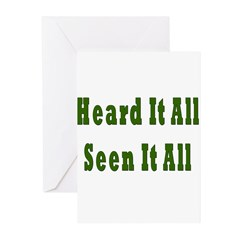 Heard and Seen It All Greeting Cards (Pk of 10