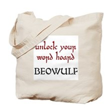 Beowulf Unlock Your Word Hoard Tote Bag