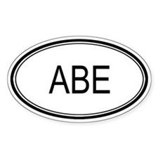 Abe Oval Design Oval Decal