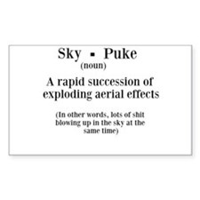 Sky Puke Definition Decal