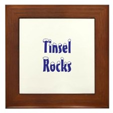 tinsel rocks Framed Tile