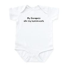 Cavapoo ate my homework Infant Bodysuit