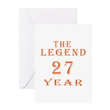 27 year birthday designs Greeting Card