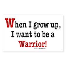 ... a warrior Rectangle Decal