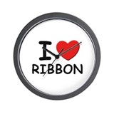I love ribbon Wall Clock