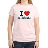 I love ribbon Women's Pink T-Shirt