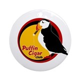 Puffin Cigar Club Ornament (Round)