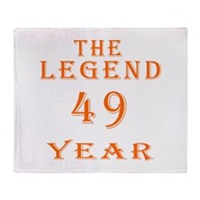 49 year birthday designs Throw Blanket