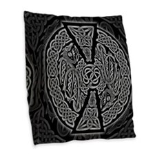 Celtic Dragons Burlap Throw Pillow