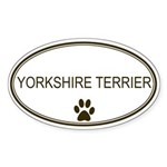 Oval Yorkshire Terrier Oval Sticker