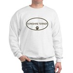 Oval Yorkshire Terrier Sweatshirt