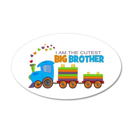 I am the Cutest Big Brother - Train Wall Decal