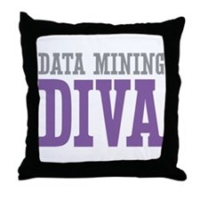 Data Mining DIVA Throw Pillow