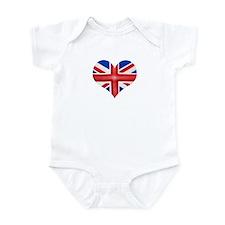 British Flag Heart Infant Bodysuit