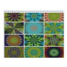 Color Mandala Kaleidoscope Wall Calendar