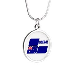Labor Party 2013 Silver Round Necklace