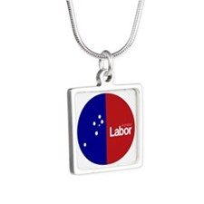 Labor Party 2013 Silver Square Necklace