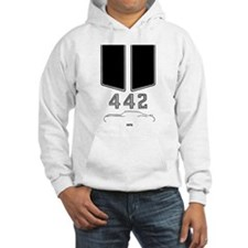 Olds 442 silhouette with logo and stripes Hoodie