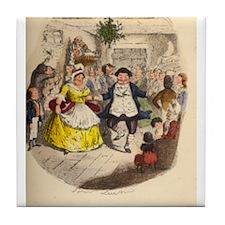 Christmas Carol - Fezziwigs Tile Coaster