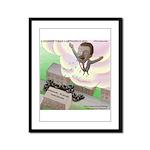 MLK Cries Framed Panel Print