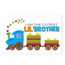 Cutest Lil Brother - Train Postcards (Package of 8
