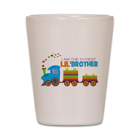 Cutest Lil Brother - Train Shot Glass