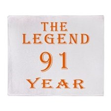 91 year birthday designs Throw Blanket