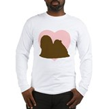 Lhasa Apso Heart Long Sleeve T-Shirt