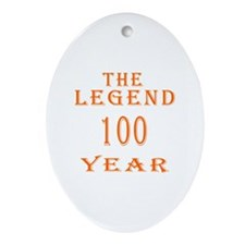 100 year birthday designs Ornament (Oval)