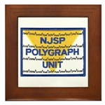 NJSP Polygraph Unit Framed Tile