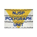 NJSP Polygraph Unit Rectangle Magnet (100 pack)