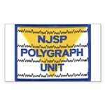 NJSP Polygraph Unit Rectangle Sticker
