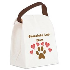 Chocolate Lab Mom Canvas Lunch Bag