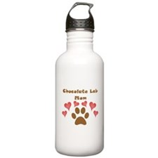 Chocolate Lab Mom Sports Water Bottle