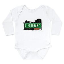 E Fordham Rd Long Sleeve Infant Bodysuit