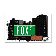 Fox St Car Magnet 20 x 12