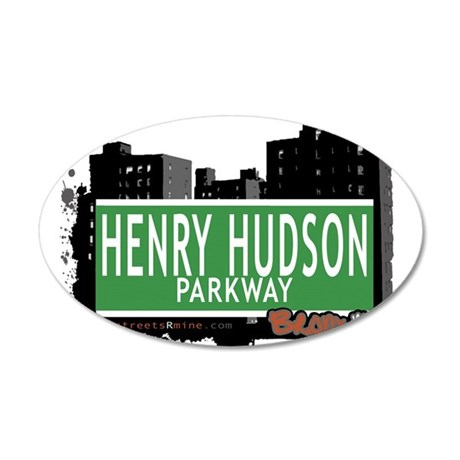 Henry Hudson Ave 20x12 Oval Wall Decal