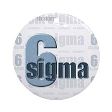 Six Sigma Ornament (Round)