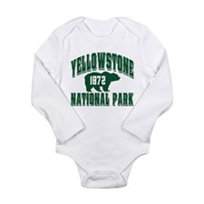 Yellowstone Old Style Green.png Long Sleeve Infant
