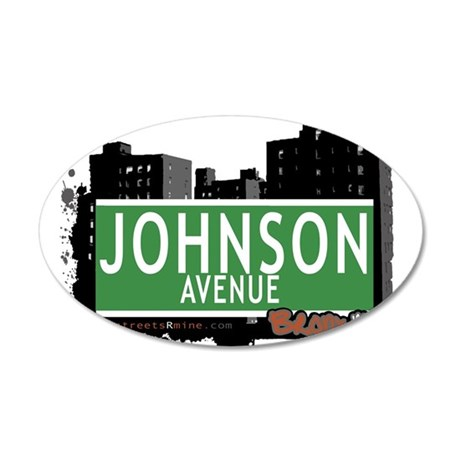 Johnson Ave 20x12 Oval Wall Decal
