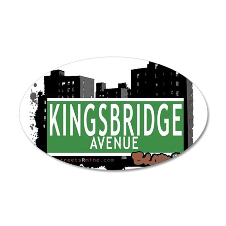 Kingsbridge Ave 35x21 Oval Wall Decal