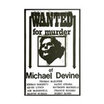 Wanted for murder Poster Re-Print