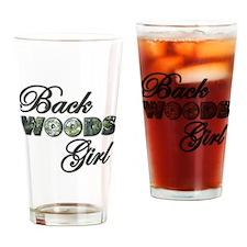 Back Woods Girl Drinking Glass