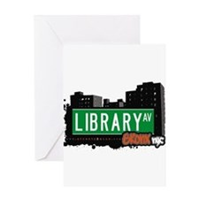 Library Ave Greeting Card