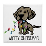 Christmas Chesapeake Tile Coaster