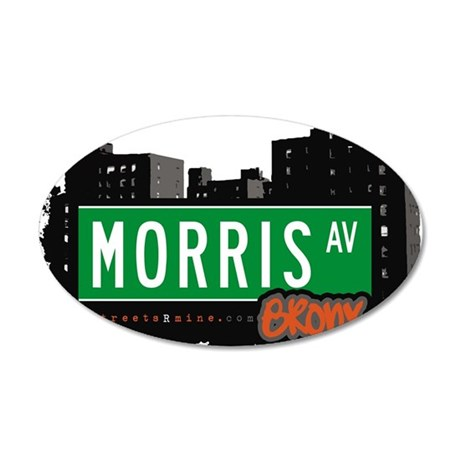Morris Ave 35x21 Oval Wall Decal