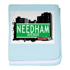 Needham Ave baby blanket