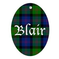 Tartan - Blair Ornament (Oval)